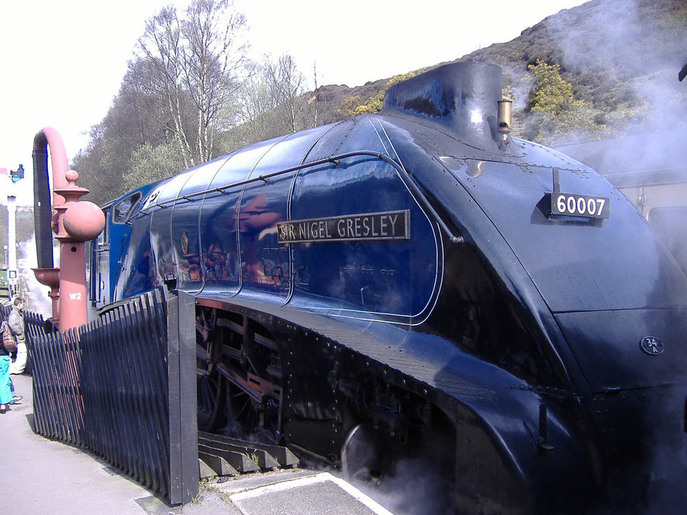 Sir Nigel Gresley at Pickering Station